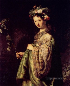Saskia As Flora Rembrandt Oil Paintings